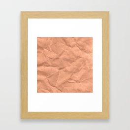 Kraft paper. crumpled paper Framed Art Print
