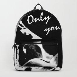 Heart in black Backpack