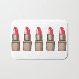Red Lipstick Pattern Big Bath Mat