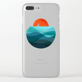 Deep blue ocean Clear iPhone Case
