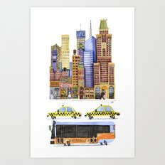 Little City Art Print