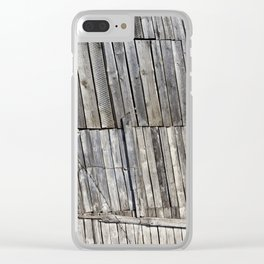 old weathered boards Clear iPhone Case