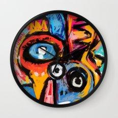 The King of Snake Street Art Graffiti Digital Wall Clock