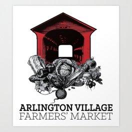 Arlington Village Farmers Market Art Print