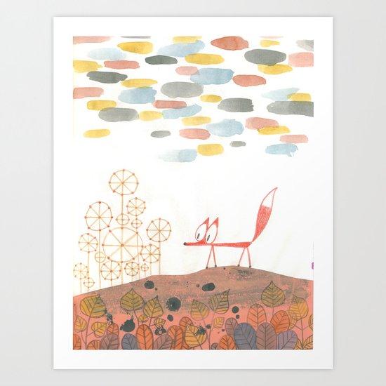 Fox in Fall Art Print