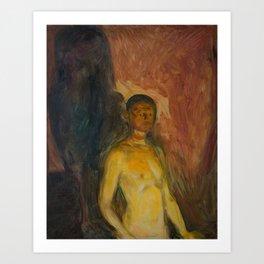 Edvard Munch - Self-Portrait in Hell Art Print