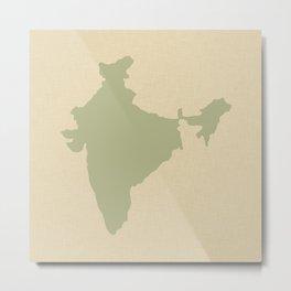 Coriander Blue Spice Moods India Metal Print