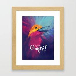 Pipirit chanté - texte Framed Art Print