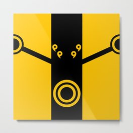The Suit of Kage Metal Print