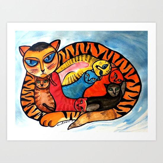 Watercolor: Secrets Art Print
