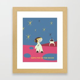 Have fun on the Moon, Framed Art Print