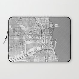 Chicago Map Line Laptop Sleeve
