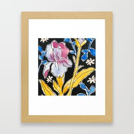 Iris Floral Framed Art Print