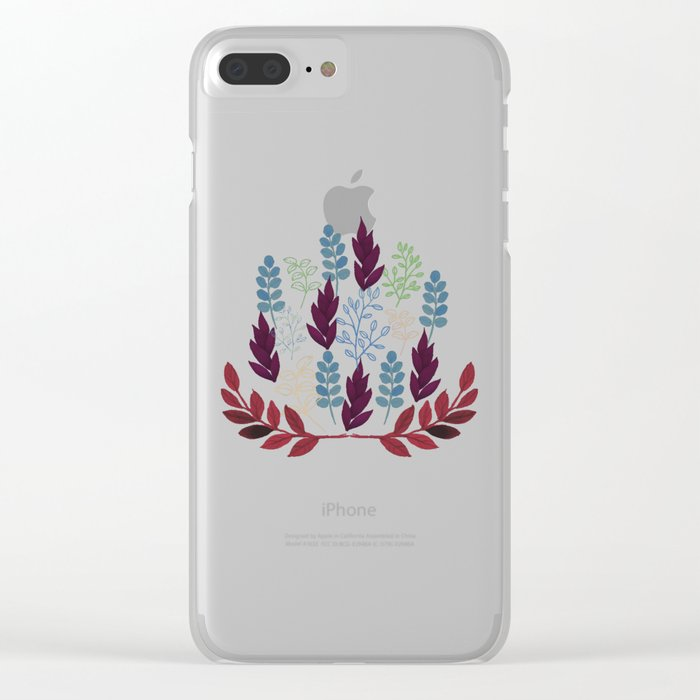 Floral Pattern #5 Clear iPhone Case