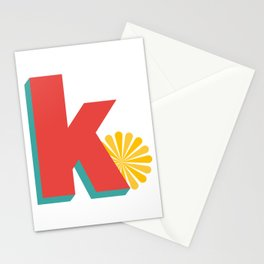 Letter K Stationery Cards