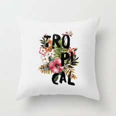 Tropical I Throw Pillow