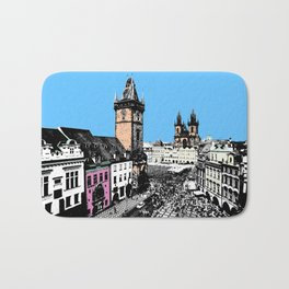 Prague old city Bath Mat