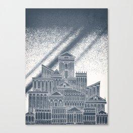 Saturn Celestial City Canvas Print