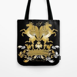 The Royal Horses (Black) Collection Tote Bag
