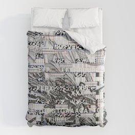 Surrender Your Information (P/D3 Glitch Collage Studies) Comforters