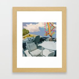 Driveway Boating Framed Art Print