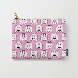 Cute Ghosts in Pink Carry-All Pouch