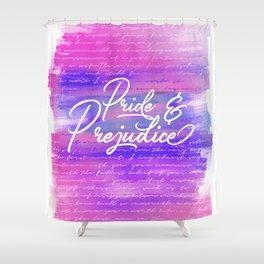 Pride & Prejudice Vibrant Quotes Shower Curtain