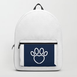 Dog Paw with Heart Dog Lover & owner cynophilist gift Backpack
