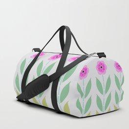 Pink Flower Trio Duffle Bag