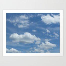 Blue Summer Sky // Cloud Photography Art Print