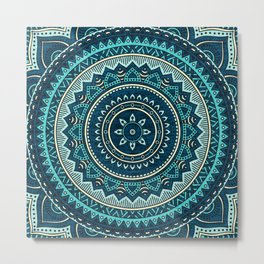 Hippie Mandala 16 Metal Print