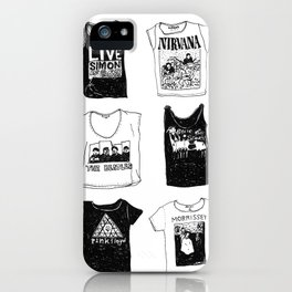 Band t-shirts iPhone Case