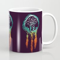 purple Mugs featuring Dream Catcher (the rustic magic) by Picomodi