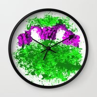donnie darko Wall Clocks featuring Donnie by ScoDeluxe