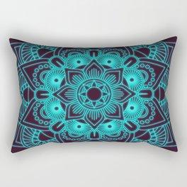 blue mandala flower Rectangular Pillow