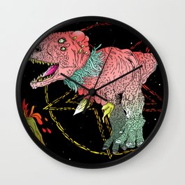 Necro-Dino From Planet Hell Wall Clock