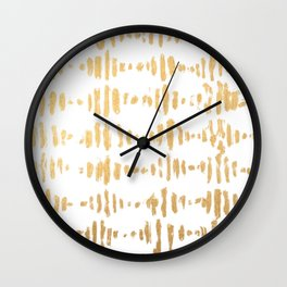 Golden Heartbeat Wall Clock