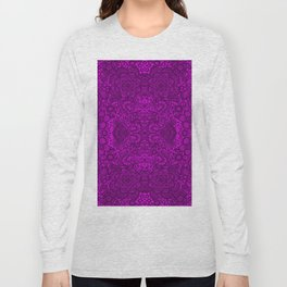 Purple lace flowers and doves Long Sleeve T-shirt