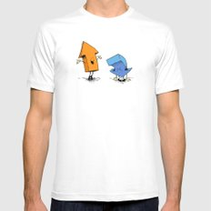 up n down show (alternate version) MEDIUM Mens Fitted Tee White