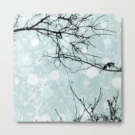Winter Branches - Graphic Metal Print
