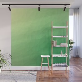 Green flakes Wall Mural