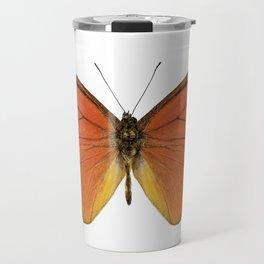 "Orange butterfly species appias nero neronis ""Orange Albatross"" Travel Mug"