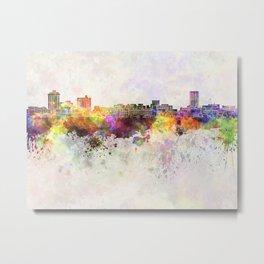 Billings skyline in watercolor background Metal Print