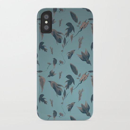 birds pattern iPhone Case