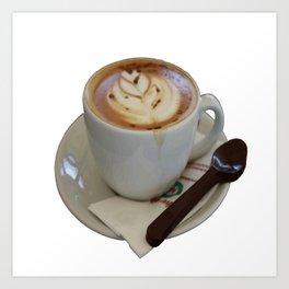 Americano Coffee Vector Art Print