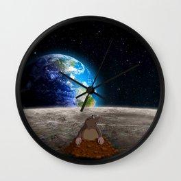 Mole on Moon Wall Clock