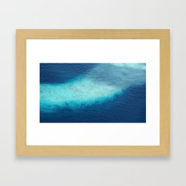 Blue Ocean White Sand Reefs Tropical Maldives Abstract Framed Art Print