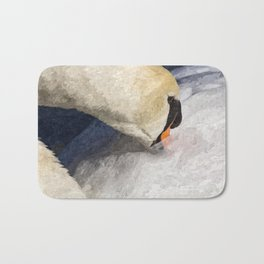 The Proud Swan Art Bath Mat