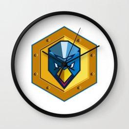 Cyber Punk Chicken Hexagon Icon Wall Clock