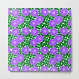 Purple Geranium Pattern Metal Print